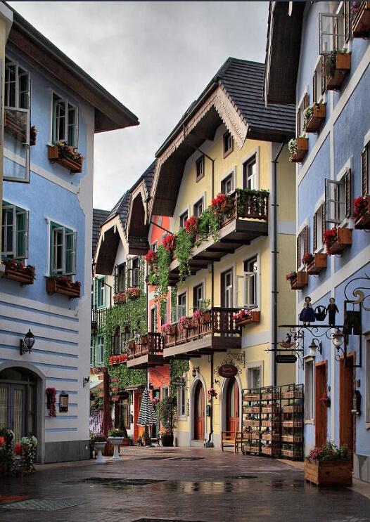 惠州欧美城_一座原汁原味的奥地利风情小镇――五矿哈施塔特掩映在惠州半城山色半