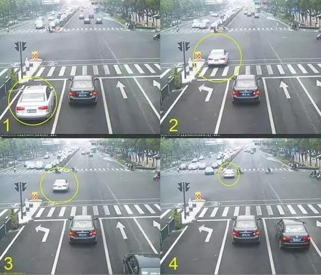 最常见是直行车道左转,左转车道直行,直行车道右转的违法行为.